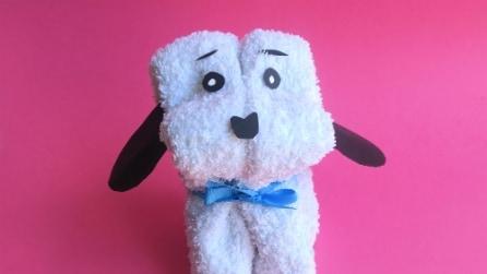 Come realizzare un cagnolino con un asciugamano