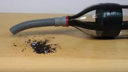 Come trasformare una bottiglia di plastica in un aspirapolvere fai da te