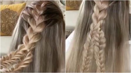 Intreccia i capelli in questo modo: l'effetto finale vi conquisterà
