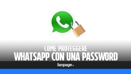 Come mettere la password a WhatsApp