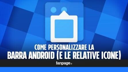 Come personalizzare la barra di stato e le icone Android