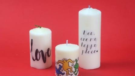 Come personalizzare una candela: l'idea veloce e originale