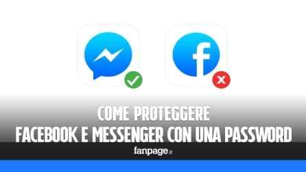 Come bloccare Facebook e Messenger con una password