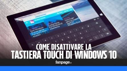 Disattivare la tastiera touch in Windows 10