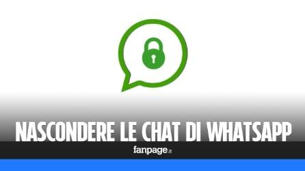 Nascondere le conversazioni WhatsApp