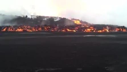Islanda: l'eruzione del vulcano Bardarbunga vista da vicino