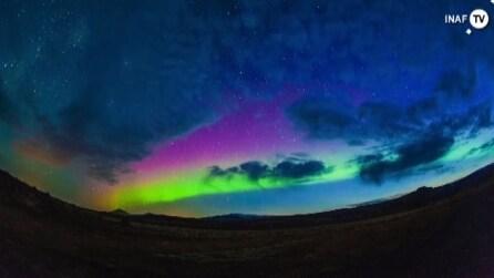 Lo spettacolo dell'aurora boreale in Islanda
