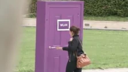 Parigi, ecco cosa succede aprendo la porta 'Milan'