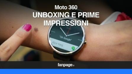 Motorola Moto 360, unboxing e prime impressioni dello smartwatch con display circolare