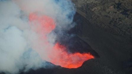 Islanda, sorvolando il vulcano Bárðarbunga in eruzione