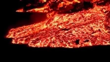 Islanda, l'eruzione effusiva nel campo di lava di Holuhraun