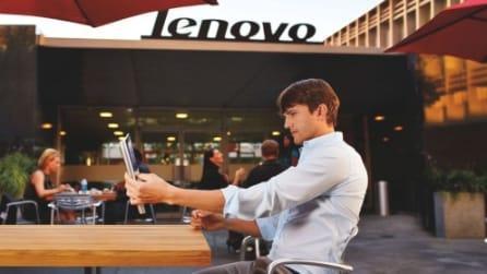 Yoga Tablet 2 Pro, lo spot con Ashton Kutcher