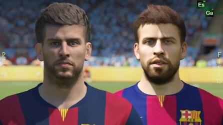 """FIFA 15 vs PES 15 - Quali sono i volti più """"reali"""""""