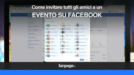 Come invitare tutti gli amici a un evento su Facebook