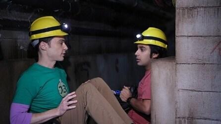 """The Big Bang Theory 8x06 - Sheldon e Raj in """"miniera"""" (sub ita)"""