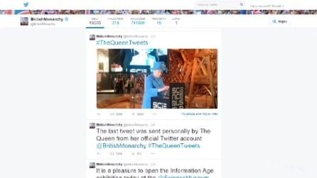 Il primo tweet della Regina Elisabetta