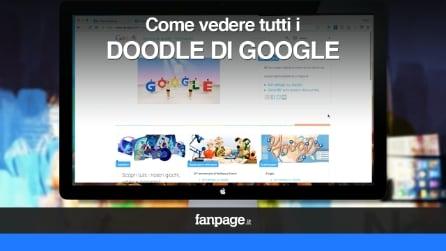 Come vedere tutti i Doodle realizzati nella storia di Google VIDEO