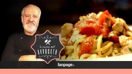 La Cucina dell'Avvocato - Spaghetti con palamita, pomodorini e colatura di alici