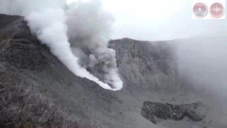 Costarica, il risveglio del vulcano di Turrialba, silente dal 1863