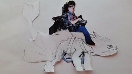 Padre di due figli disabili disegna spettacolari costumi per bambini in carrozzella