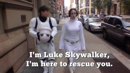 La Principessa Leila cammina sola a NY, la parodia sull'esperimento sessista