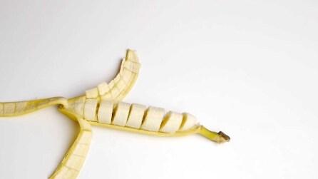 Scopri come tagliare perfettamente una banana
