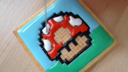Come decorare i biscotti con il funghetto di Nintendo