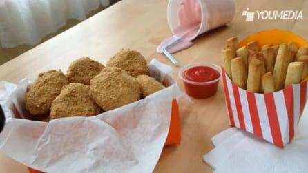 I biscotti che ricordano un menu da Fast Food