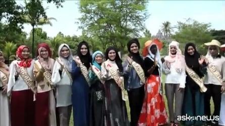 Indonesia, le finaliste del concorso di bellezza World Muslimah Awards