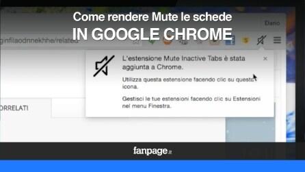 Come rendere mute le schede aperte in Google Chrome