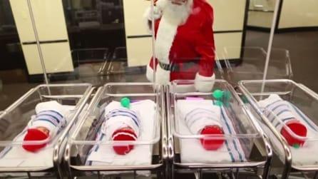 Si intrufola nel reparto di maternità e quello che fa lascia tutti senza parole
