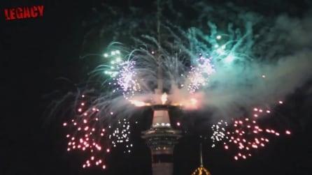 Auckland, la prima metropoli a festeggiare il 2015: lo spettacolo pirotecnico