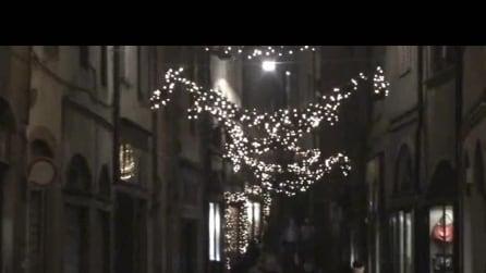 Bergamo città alta luminarie feste di natale del, 2014 1° video