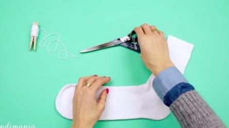 Guarda cosa puoi creare usando un semplice calzino bianco e del riso