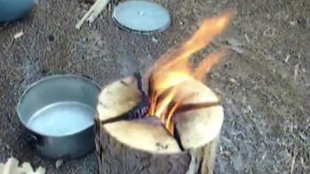Ecco come fare un fornello da campeggio senza gas