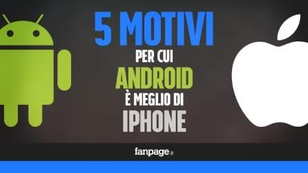 5 motivi per cui Android é meglio di iPhone