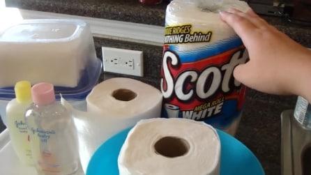 Immerge la carta da cucina nell'olio per bambini, ciò che ottiene vi stupirà