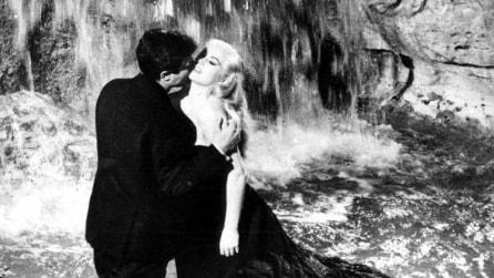 """""""La Dolce Vita"""", il bagno di Anita Ekberg nella Fontana di Trevi"""