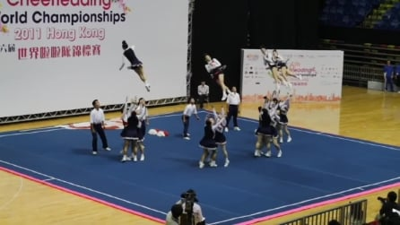 """Le cheerleaders giapponesi """"volano"""" e danno spettacolo"""