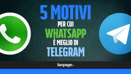 5 motivi per cui WhatsApp è meglio di Telegram