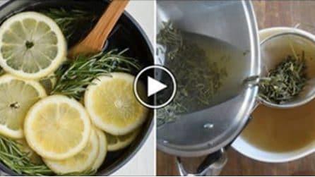 Taglia il limone, lo mischia col rosmarino : il rimedio per profumare tutta la casa
