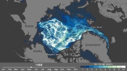 La mappa dello scioglimento dei ghiacci artici nel corso degli ultimi 30 anni