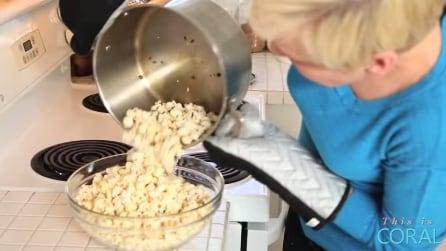 Il modo più veloce per cucinare una pentola di pop-corn