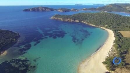 Gli incantevoli paesaggi della Sardegna visti dall'alto