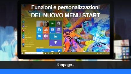 Menu Start in Windows 10: le funzionalità e le personalizzazioni