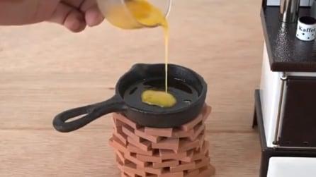Ecco come sarebbe preparare la colazione con una mini cucina