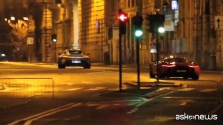 """Roma, strade bloccate per le riprese del nuovo film di James Bond """"Spectre"""""""