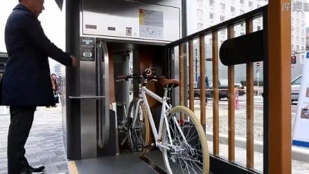 Basta rastrelliere, ecco il parcheggio sotterraneo per bici