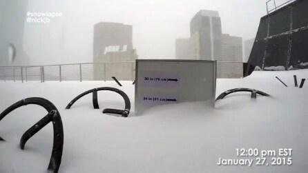 Boston, 5000 scatti della neve che cade sul tetto diventano un time-lapse