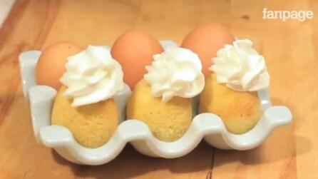Cuocere la torta direttamente dentro un uovo